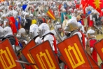 Europe; Poland;  staging of the Battle of Grunwald  in July 2008; Grunwald; knight; battle