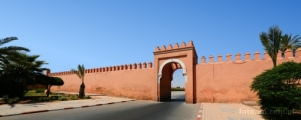 Africa; Morocco; Marrakech; gate; Bahia palace